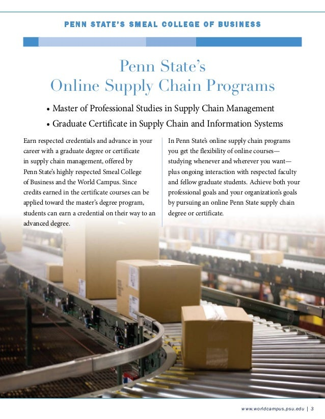Penn State Supply Chain Certificate 2012