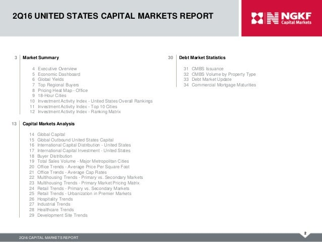 2Q16 NGKF US Capital Markets Report