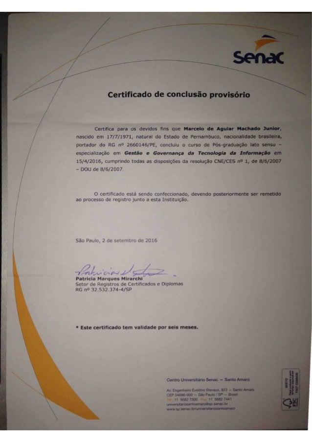 Certificado de Pós-graduação
