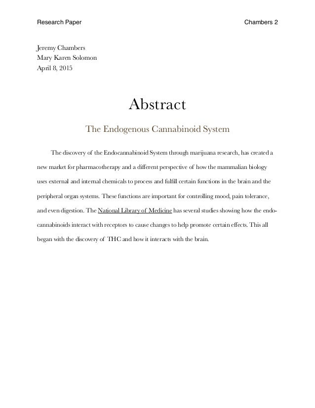 research paper final draft research