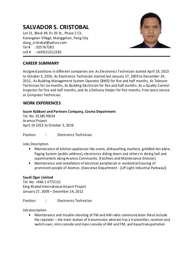 Electronics Technician Job Description - Gse.Bookbinder.Co