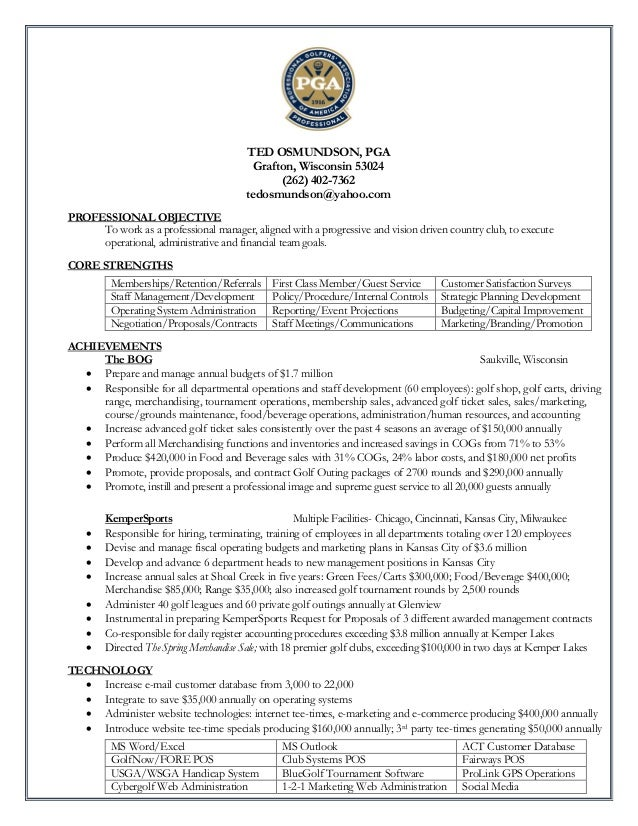 golf professional resumes tier brianhenry co