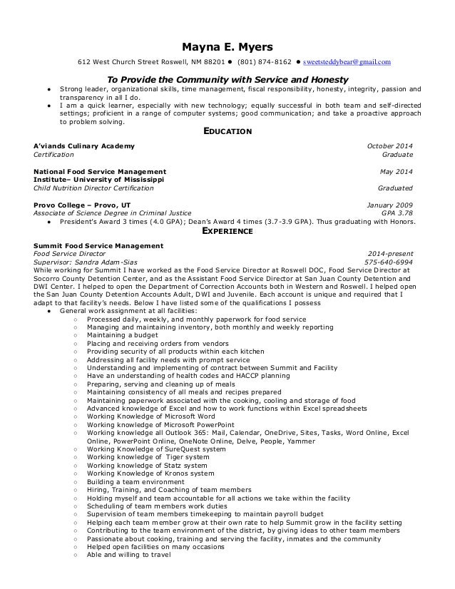 food production manager cover letter