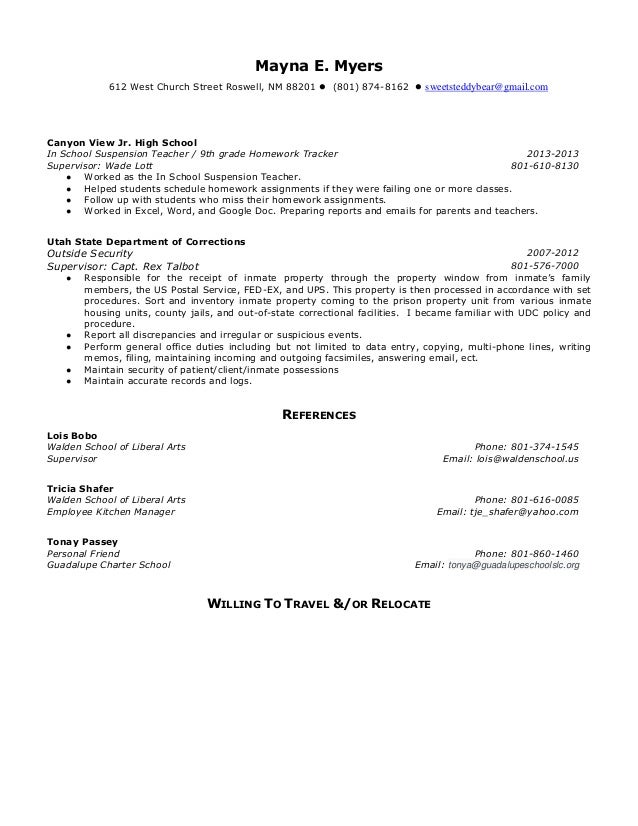resume food service operation support manager