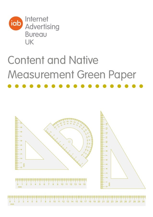Content and Native Measurement Green Paper