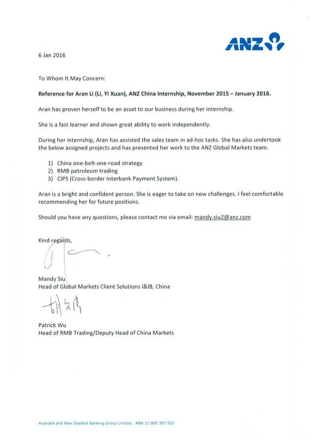 letter of recommendation format reference letter mandy anz 4759