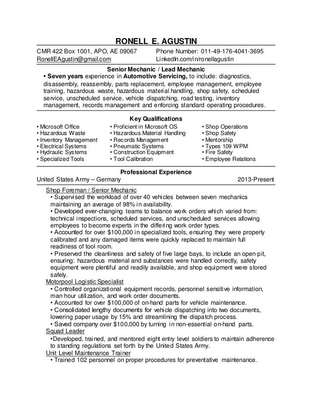 diesel technician resume free resume example and writing download
