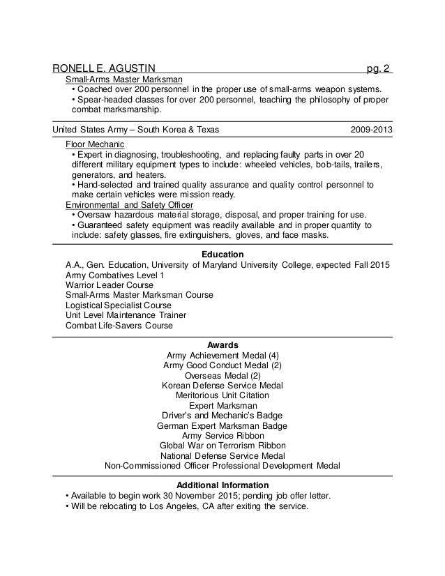 master at arms resume resume ideas