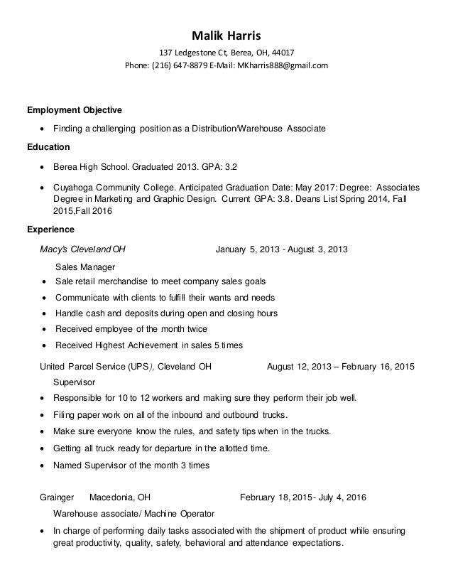malik harris resume