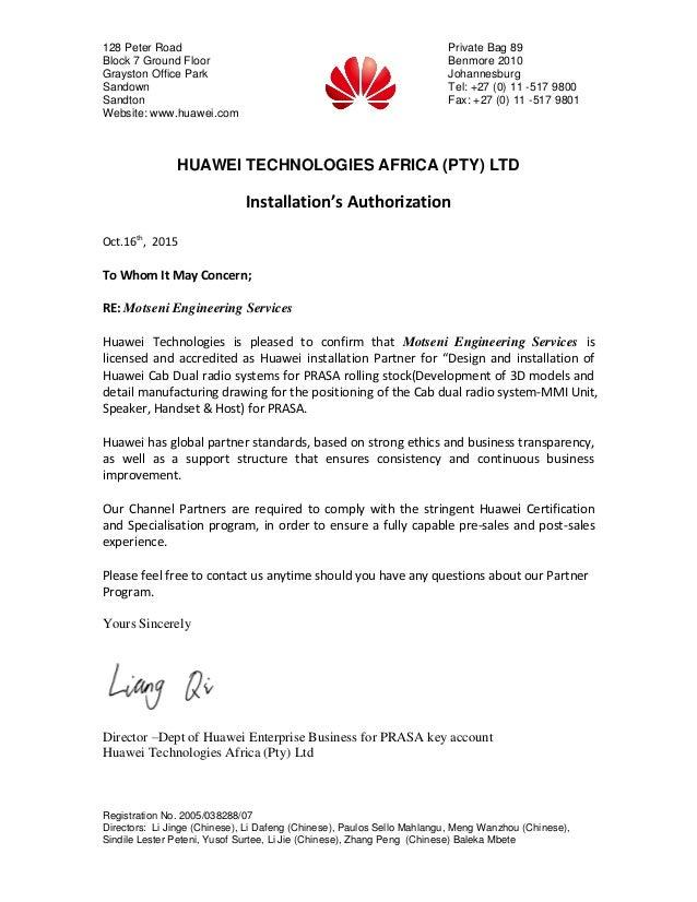 partner letter