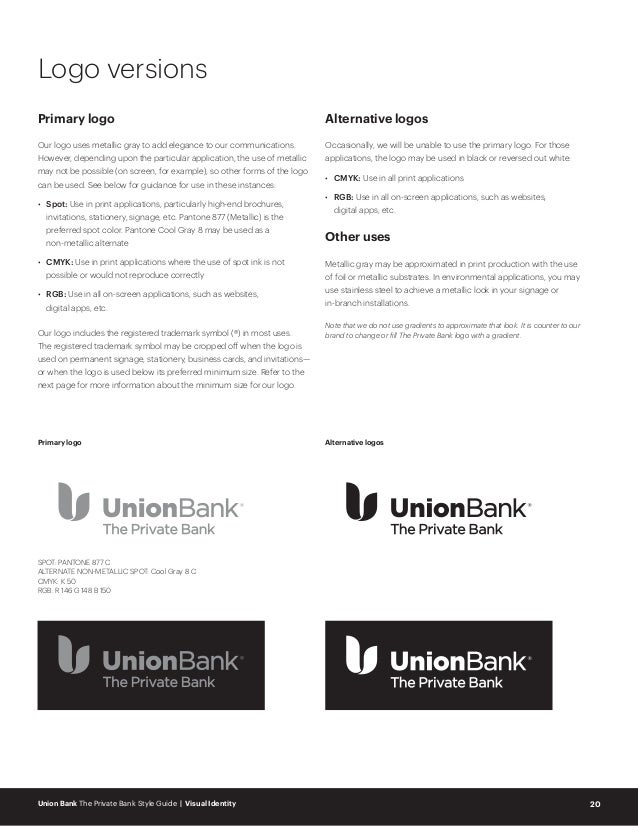 UB_The Private Bank style guide