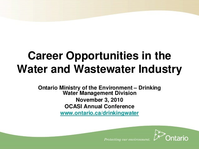 A7 career opportunities in the water wastewater industry