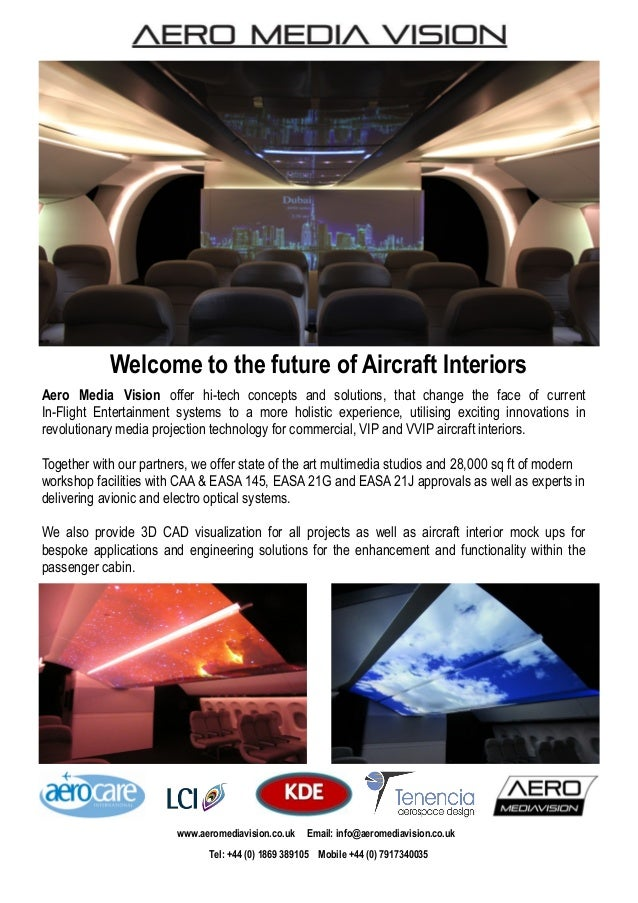 Aero Media Vision offer hi-tech concepts and solutions, that change the face of current In-Flight Entertainment systems to...