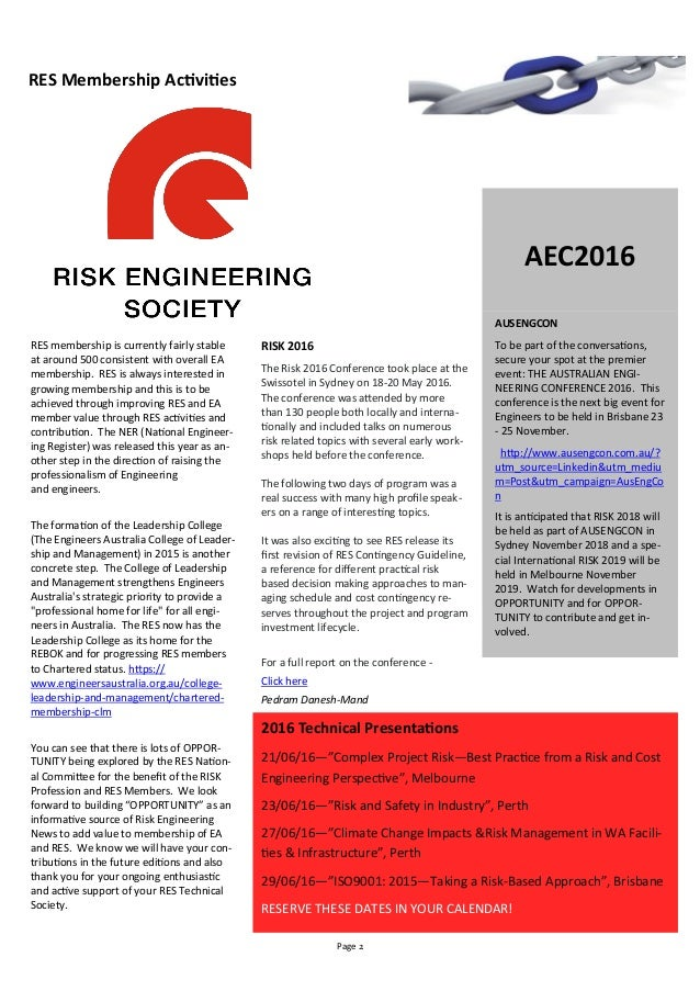 risk engineering society contingency guideline pdf