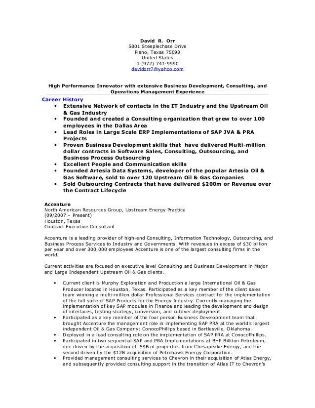 David Orr Resume 05312016
