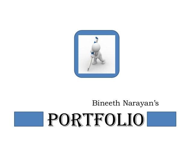 PORTFOLIO Bineeth Narayan's