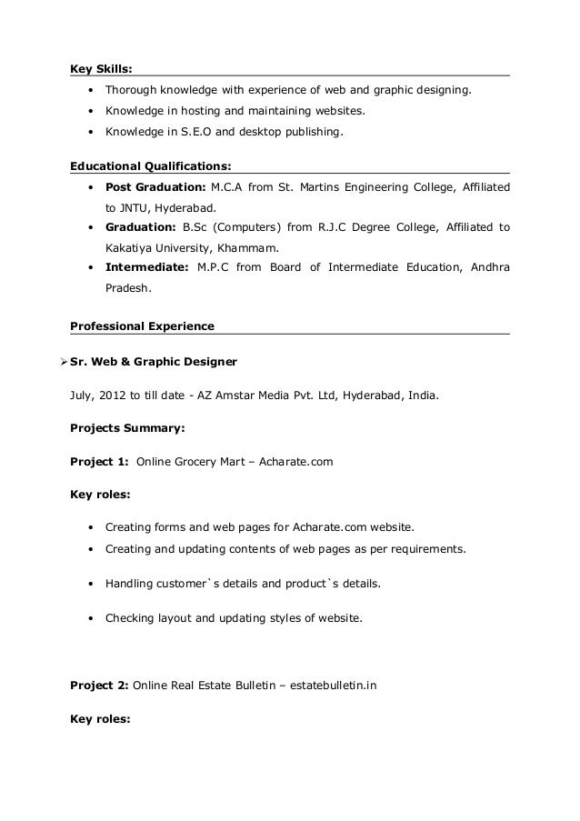 sangepu naveen kumar web designer resume