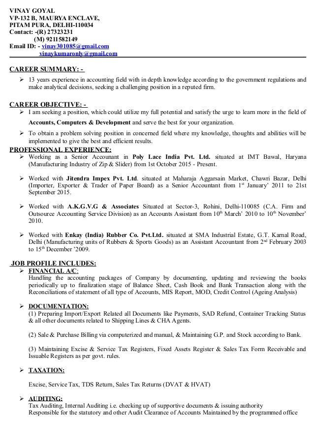 Nice Govt Resume Accounts Photos - FORTSETZUNG ARBEITSBLATT ...