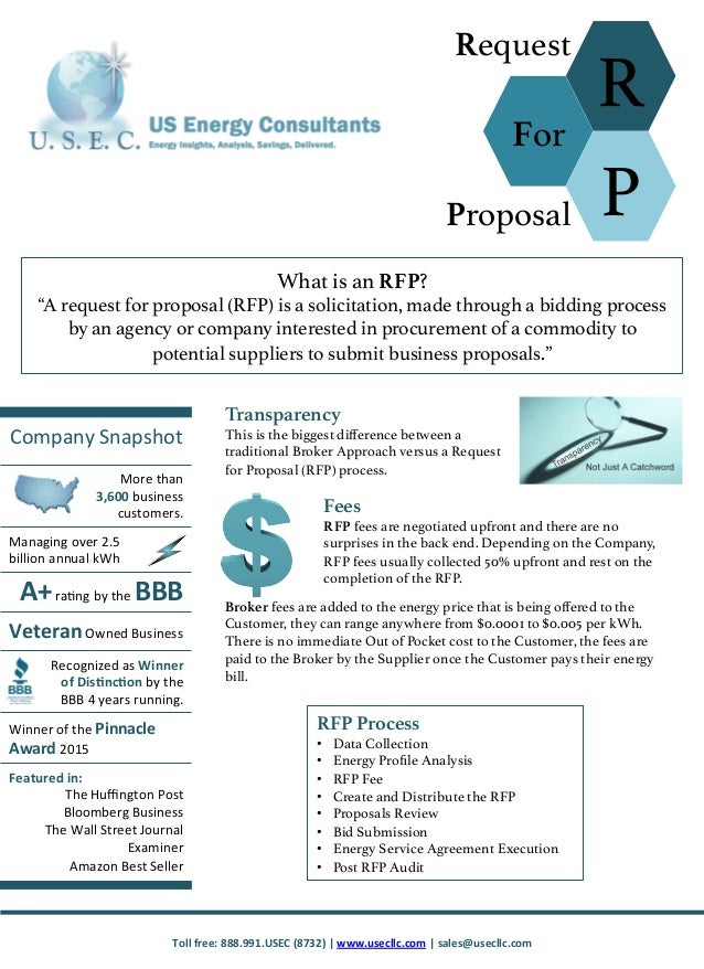 RFP One Page