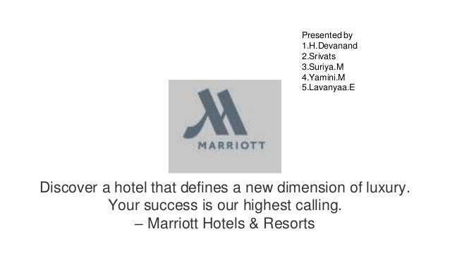 Discover a hotel that defines a new dimension of luxury. Your success is our highest calling. – Marriott Hotels & Resorts ...
