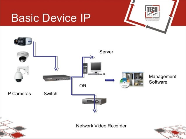 Basic Device IP IP Cameras Switch Server OR Network Video Recorder Management Software