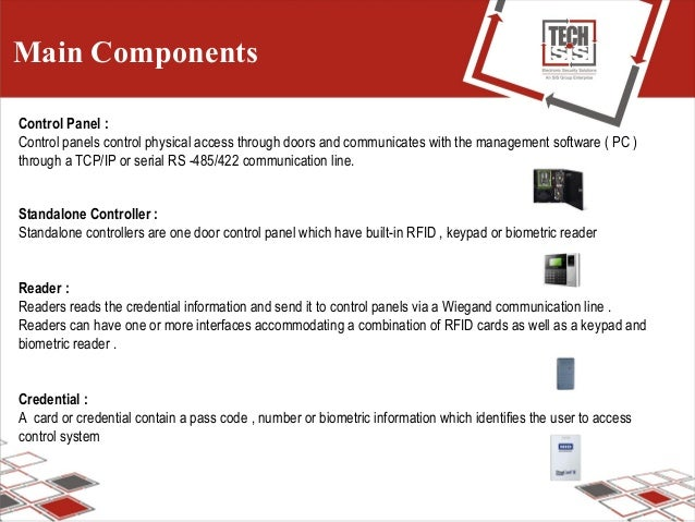Main Components Control Panel : Control panels control physical access through doors and communicates with the management ...