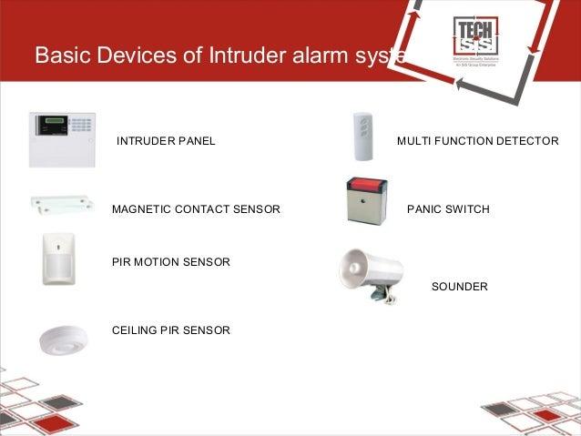Basic Devices of Intruder alarm system INTRUDER PANEL MAGNETIC CONTACT SENSOR PIR MOTION SENSOR CEILING PIR SENSOR MULTI F...
