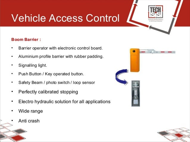 Vehicle Access Control Boom Barrier : • Barrier operator with electronic control board. • Aluminium profile barrier with r...
