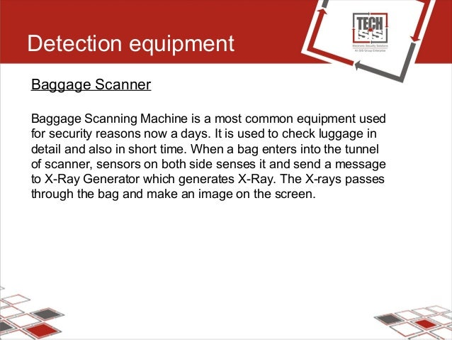 Detection equipment Baggage Scanner Baggage Scanning Machine is a most common equipment used for security reasons now a da...
