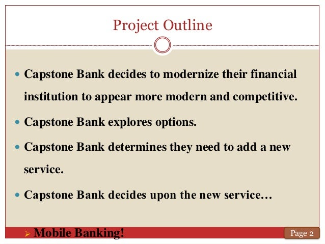 finance capstone project Running head: capstone guidebook 1 accounting, finance, and information systems department ferris state the capstone project proposal form should be.