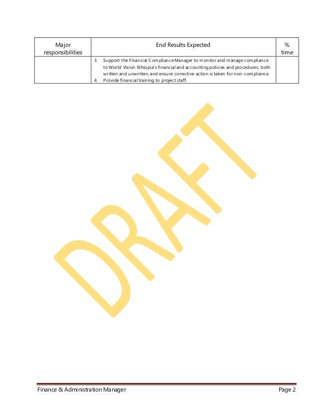 WVE Finance & Administration Manager JD rev 001 Slide 2
