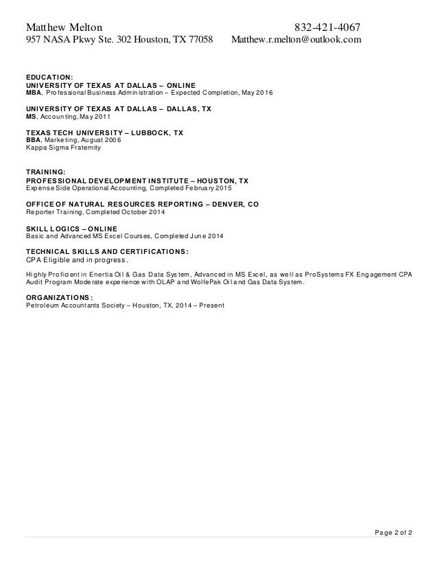 Matthew Melton Resume - Current