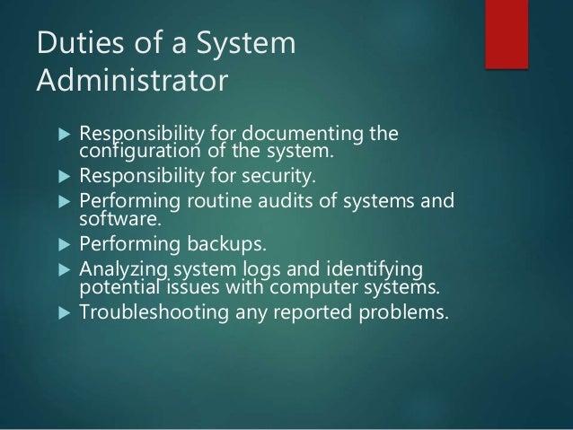 System Administration Dcu