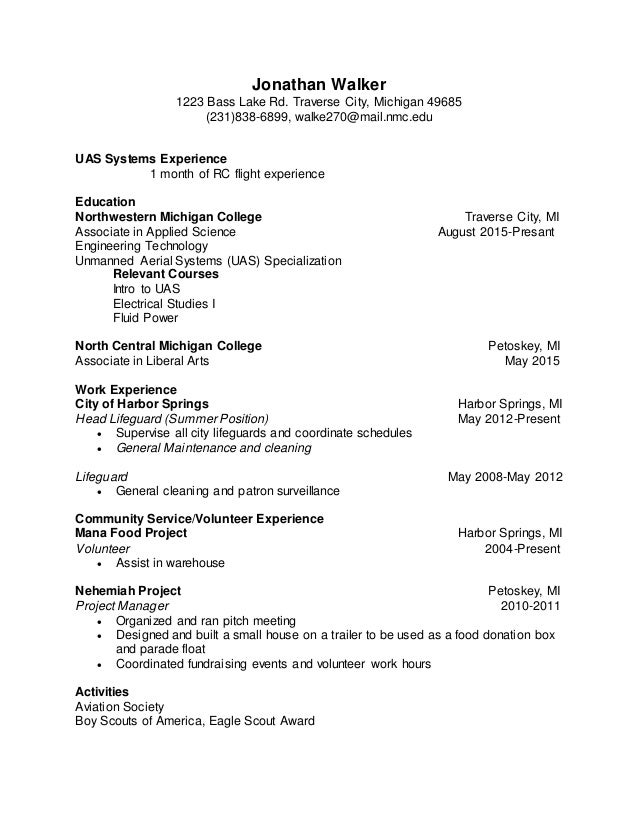 Jonathan Walker revised Resume