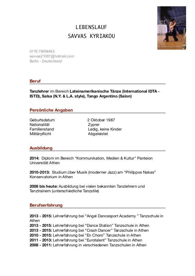 Niedlich Tanz Lebenslauf Bilder - Entry Level Resume Vorlagen ...