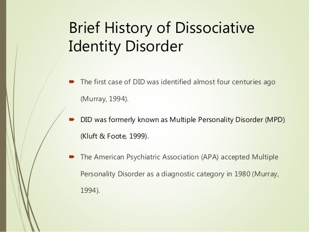 the causes symptoms and management of multiple personality disorder Some people may have signs and symptoms of multiple personality  paranoid  personality disorder: people with paranoid personality disorder.