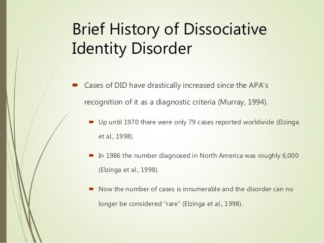 Dissociative Identity Disorder - PubMed Central (PMC)