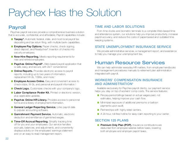 Paychex - About Paychex and Sample Reports