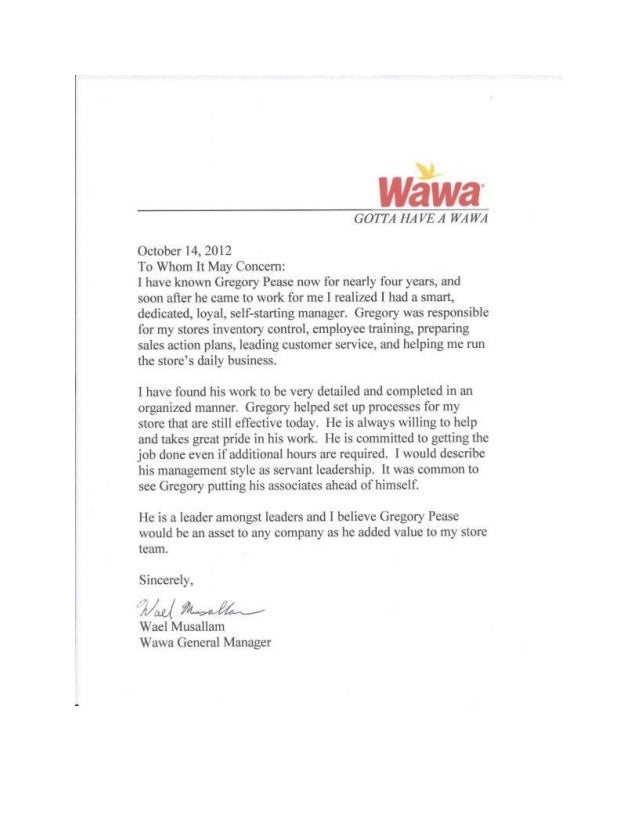 Waels Letter Of Recommendation Word