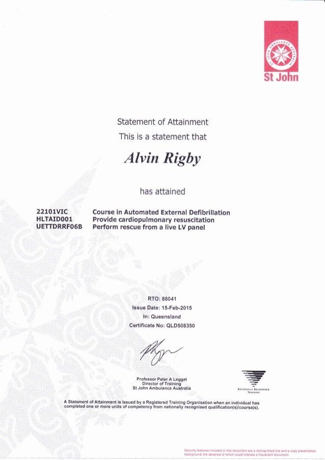 Qas First Aid Certificate Best Design Sertificate 2018