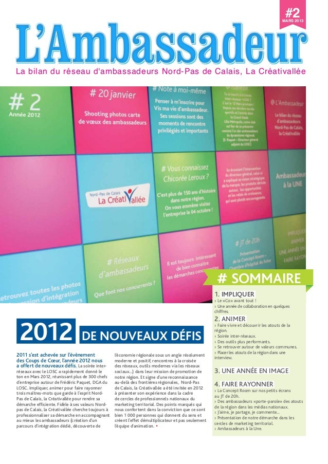 L'AmbassadeurL'AmbassadeurL'AmbassadeurL'AmbassadeurLa bilan du réseau d'ambassadeurs Nord-Pas de Calais, La Créativallée ...