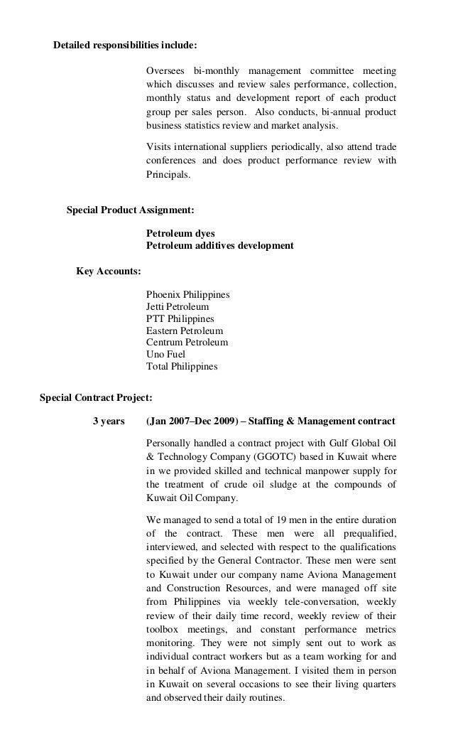 resume sale person