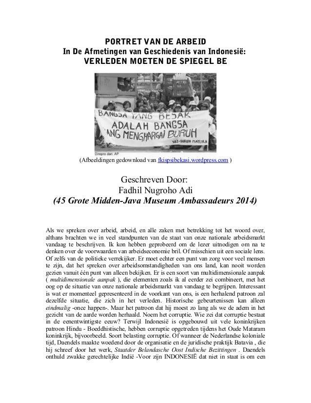 PORTRET VAN DE ARBEID In De Afmetingen van Geschiedenis van Indonesië: VERLEDEN MOETEN DE SPIEGEL BE (Afbeeldingen gedownl...