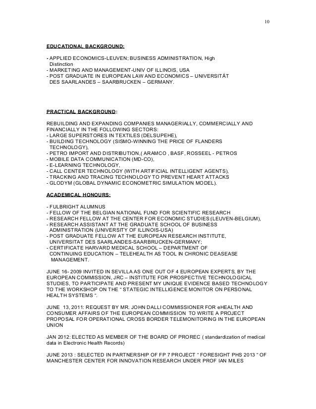 Economics Resume