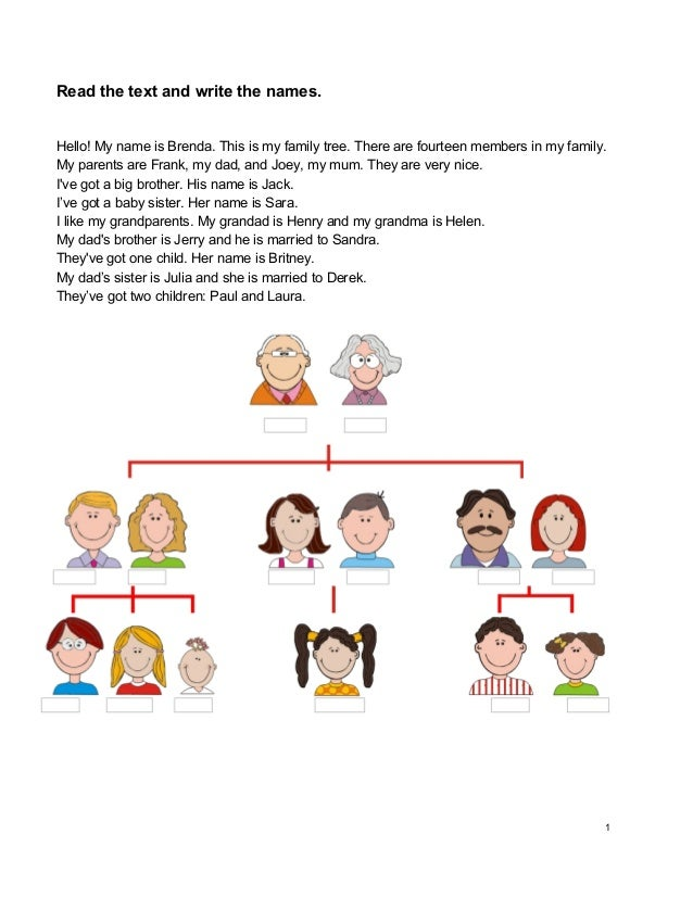 How to Write Out a Family Tree