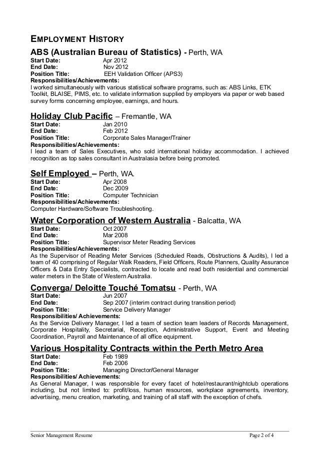 Senior Mgmt Resume 4 page