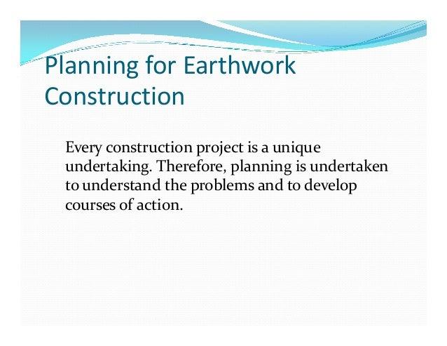 Earthwork Construction Management : L planning for earthwork construction