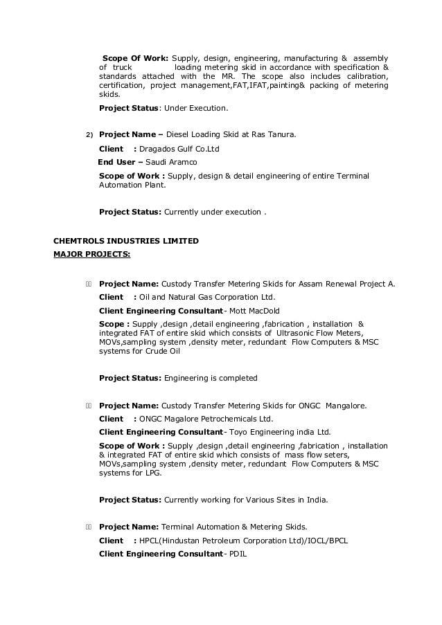 4 - Instrumentation Design Engineer Sample Resume