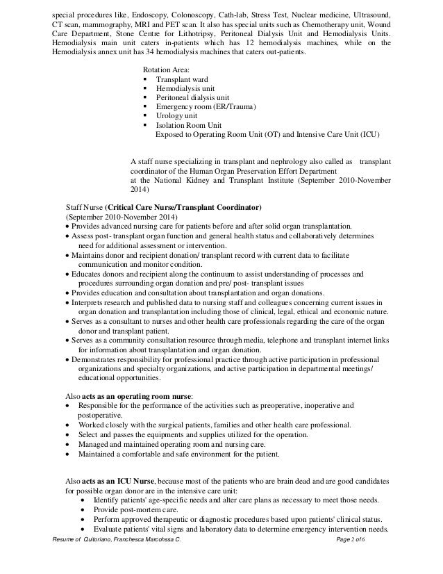 Surgical Rn Resume Sample Vosvetenet – Sample of Rn Resume