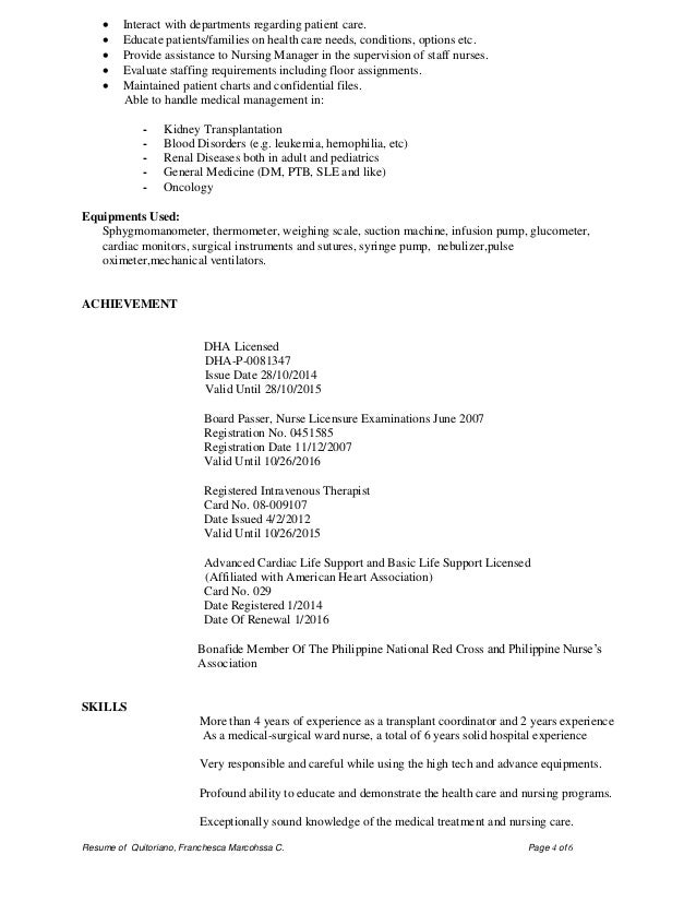 Sample Resume For Cardiac Telemetry Nurse Cover Letter Sample Pinterest  Staff Nurse Resume Example